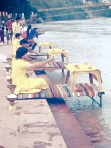 Arati Performed near the Ganges.