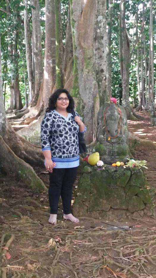 Entrance to the Rudraksha Forest.